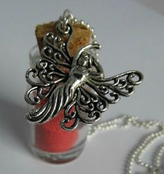 Red fairy dust bottle necklace £8.00