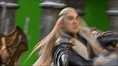 Thranduil / Lee Pace behind the scenes Hobbit set