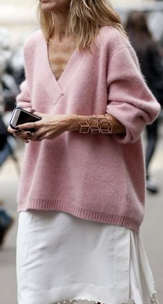 <3 blush sweater