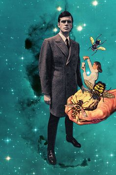 """Monsando Lawyer"" by Eugenia Loli Dapper dude does dust clouds Collages, Surreal Collage, Collage Artists, Love Collage, Mixed Media Collage, Eugenia Loli, Creepy Pictures, Modern Love, Photoshoot Inspiration"