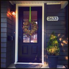 Black 3/4 glass front door