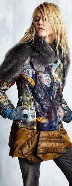 Elisa Cavaletti Fall / Winter 2015-16 #Unique_Boho_Style Jacket Fur