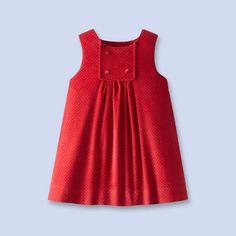 pinafore dress from polka dot corduroy