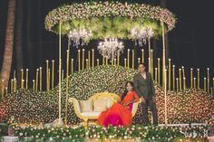 Towards Better And Eco-Friendly Wedding Planning That Saves A Lot Of Wastage Reception Stage Decor, Wedding Stage Backdrop, Wedding Hall Decorations, Wedding Stage Design, Reception Backdrop, Marriage Decoration, Wedding Mandap, Backdrop Decorations, Indian Wedding Stage