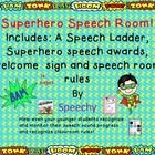 Get your Speech room ready for the  new school year!  Use this  Superhero packet that includes the following:  7 paged speech ladder:  sound, sylla...