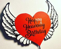 Happy Heavenly Birthday fall waterproof memorial card for | Etsy Missing Mom In Heaven, Gift From Heaven, Happy Heavenly Birthday Dad, Sending Prayers, Memorial Cards, Bless The Lord, Dad Birthday, Birthday Cake Toppers, Custom Cards