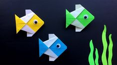 Origami Fish: How to make a fish with paper. Origami animals - Origami fish tinker with paper – origami for children & beginners – simple DIY craft ideas – - Origami Rose, Gato Origami, Origami And Kirigami, Origami Paper Art, Origami Bird, Origami Flowers, Paper Crafting, Diy Flowers, Origami Fish Easy