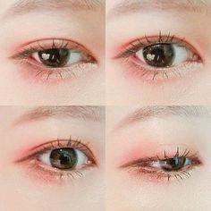 Ideen für Make-up Korean Coral - Natural Makeup Paso A Paso Korean Makeup Tips, Korean Makeup Look, Korean Makeup Tutorials, Asian Eye Makeup, Makeup Trends, Makeup Inspo, Makeup Inspiration, Beauty Makeup, Makeup Hacks