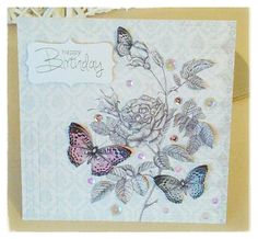 Created by Tina Boyden for Craftwork Cards Butterfly Kisses, Butterflies, Craftwork Cards, Craft Work, Birthday Cards, Birthdays, Paper Crafts, Card Designs, Create