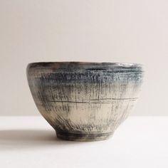 Grey Textured Tea Cup by Joanna Tang