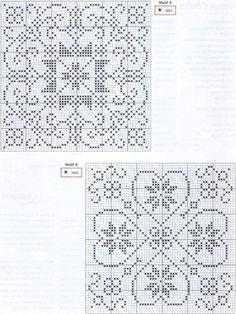 Two pretty designs Biscornu Cross Stitch, Cross Stitch Heart, Cross Stitch Borders, Cross Stitch Alphabet, Cross Stitch Designs, Cross Stitching, Cross Stitch Embroidery, Cross Stitch Patterns, Crochet Patterns