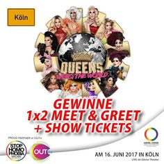 """#GEWINNSPIEL FÜR KÖLN   Die Stars aus @rupaulsdragrace kommen nach Hamburg! Triff deine Lieblingqueens bei ihrer RuPaul's Drag Race: Werq the World Tour 2017 in Köln! @_openyourmouth_ verlost für die Show am 16. Juni 2017 im GLORIA THEATER exklusiv 1x2 Tickets  ein Meet & Greet mit den Queens!  Teilnahme am Gewinnspiel: 1.) Folgt uns auf Instagram! 2.) Schreibt uns in den Kommentaren wie euer Drag-Name lautet oder lauten würde! Der kreativste Name gewinnt! Das Gewinnspiel """"Köln"""" startete am…"""
