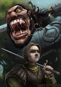 Arya and The Hound! I feel like the hound is still alive. http://303bigsale.com/ 720-897-0441