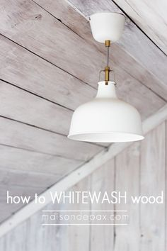 How to whitewash wood for a plank wall   Maison de Pax on Remodelaholic.com