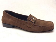 Brown Suede Stuart Weitzman Jeweled Loafers Size 5 5M | eBay