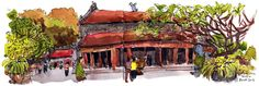 All the sketches from my Hanoi, Vietnam Trip (Mar 2015) Parka Blogs