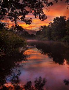 ~~Sunrise in Sweden ~ serene waterscape sunrise reflections in Gothenburg by Johnny Kääpä~~