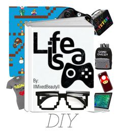 """""""Life is a Game"""" by iimixedbeautyii ❤ liked on Polyvore featuring art and diybookcover"""