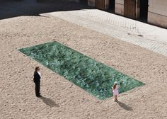 The eight best outdoor installations to see this summer include a pool of marble in the courtyard of a French chateau