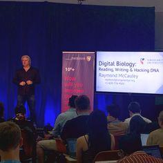 Reading, writing and hacking #DNA. Raymond McCauley  talks Digital Biology at Singularity University.  #SingularityU #GSP15