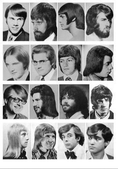 A collection of 1970s Hair styles. I mean, what to say ? What else, perhaps.