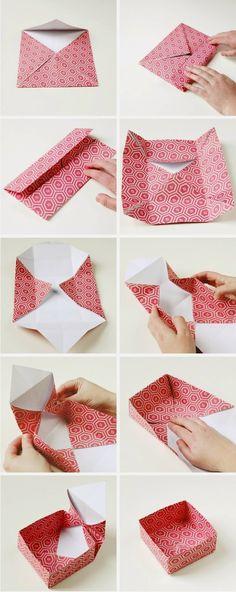 (^O^)/: 紙を折って箱を作ろう♪贈り物やラッピングにも最適なボックス集!