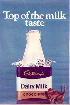 11 gloriously vintage adverts for Cadbury& chocolate · The Daily Edge - Retro Advertising, Vintage Advertisements, Advertising Signs, Vintage Labels, Vintage Ads, Cadbury Dairy Milk Chocolate, Milk Brands, Milk Ice Cream, Poster Ads
