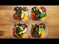 Healthy Meals 85075880445996589 - Portobello Fajita Bowl Meal Prep Recipe by Tasty Source by Vegetarian Meal Prep, Vegetarian Recipes, Cooking Recipes, Veggie Meal Prep, Food Prep, Recipes For Meal Prep, Easy Lunch Meal Prep, Meal Prep Low Carb, Simple Meal Prep