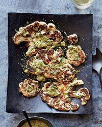 Cauliflower Steaks with Herb Salsa Verde