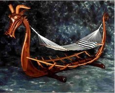 Viking Ship Hammock Stand http://www.delcoverwoodworking.com/VikingShipHammockStand.jpg