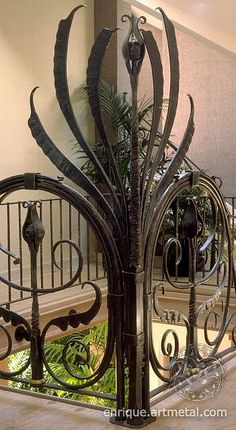 Wrought Iron Railing Corner Detail by creatorsdream, via Flickr