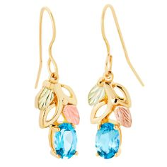 Black Hills Gold Topaz Gold Earrings