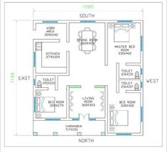3 Bedroom Low Cost Single Floor Home Design with Free Plan - Free Kerala Home Plans Low Cost House Plans, Square House Plans, Free House Plans, 2bhk House Plan, House Layout Plans, Duplex House Plans, Bungalow House Plans, Modern House Plans, Small House Plans