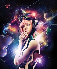 Create Expressive Space Girl Composition in Photoshop Tutorial - icanbeCreative