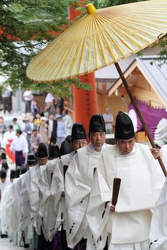 Shinto priests, Japan