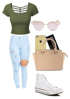 """..."" by brooke176 on Polyvore featuring LE3NO, Forever 21, Michael Kors, Le Specs and Converse"