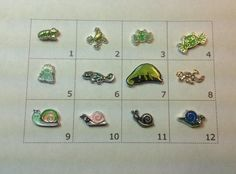 FROG LIZARD or SNAIL floating charm by JMLReflections on Etsy