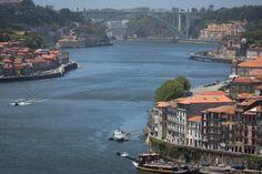 Man Made Porto  Rooftop Boat House Bridge City River Portugal Wallpaper