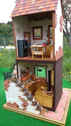 Ideas For Diy Kitchen Cart Ideas Pantries Vitrine Miniature, Miniature Rooms, Miniature Kitchen, Miniature Houses, Diy Dollhouse, Dollhouse Miniatures, Dollhouse Design, Crea Fimo, Doll House Plans
