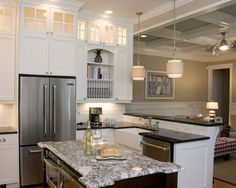 "Traditional Kitchen ""shaker"" ""glass"" ""white"" Design, Pictures, Remodel, Decor and Ideas - page 7"