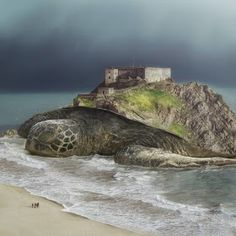 This is what a San Diego artist always do. Phuoc Nguyen is used to create or make a fantastic photo manipulation. He's such an brilliant artist. Release The Kraken, Turtle Rock, Unusual Buildings, Surrealism Photography, Multiple Images, Optical Illusions, Photo Manipulation, Landscape Paintings, Cool Photos