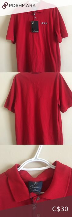 """Cleveland Classics Men's Size Large Red Golf Polo ⭐️""""Maple Leaf Junior Golf Tour"""" MJT Logo on right side. ⭐️ New with tags ⭐️ red ⭐️ Men's golf polo Cleveland Classics Shirts Polos Golf Tour, Plus Fashion, Fashion Tips, Fashion Trends, Cleveland, Polo Ralph Lauren, Man Shop, Tags, Classic"""