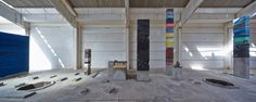 """Adrian Villar Rojas' """"Planetarium"""" is a site-specific installation commissioned by Sharjah Biennial 12 using an abandoned ice factory in Kalba, a port city on the east coast of Sharjah, the United Arab Emirates. / Courtesy of Sharjah Art Foundation and the artist"""