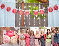 Bridal Shower. This is a cute idea everyone at the bridal shower wears the colors of the wedding so if I did that everyone would wear white, ivory, mint, peach, coral, or really any shade of pink lol pastel blues and greens and any shade of gray.