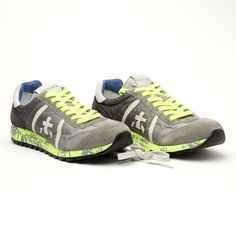 new product 299c2 747b5  premiata  new  men  lucy  grey  yellow  sneakers  sporty