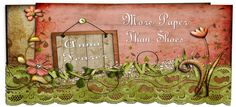 I had to go buy olive lace like on this blog header, just for inspiration! LOL!