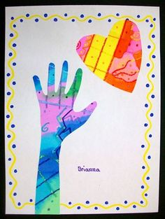 cool hands warm hearts, watercolor paintings cut out.
