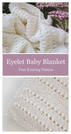 Eyelet Baby Blanket Free Knitting Pattern The Effective Pictures We Offer You About Crochet heart A quality picture can tell you many things. Easy Knit Baby Blanket, Free Baby Blanket Patterns, Crochet For Beginners Blanket, Knitted Baby Blankets, Crochet Blanket Patterns, Baby Patterns, Baby Knitting Patterns Free Cardigan, Chevron Baby Blankets, Baby Shawl
