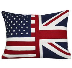 { My two loves...America Stars and Stripes + British Union Jack Cushion }