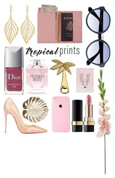 """Pink Tropics"" by savannahcatt on Polyvore featuring Steve Madden, Royce Leather, RetroSuperFuture, Christian Dior, Christian Louboutin, Victoria's Secret and Dolce&Gabbana"
